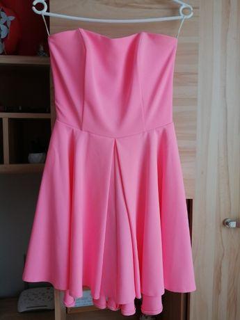 Różowa sukienka/rozmiar XS/34