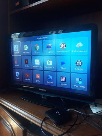 Телевизор Fhilips 26 + смарт приставка ТВ
