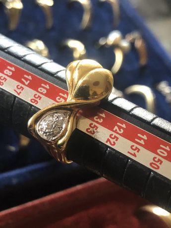 Pierścionek z brylantami Złoty WROCŁAW