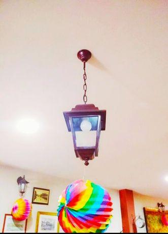 Candeeiros/Lampiões de  teto