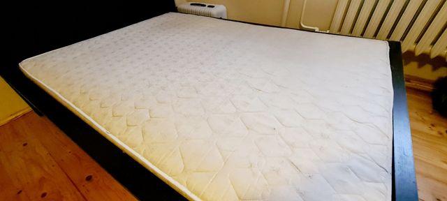 Łóżko malm ikea, materac 160×200 ciemny brąz