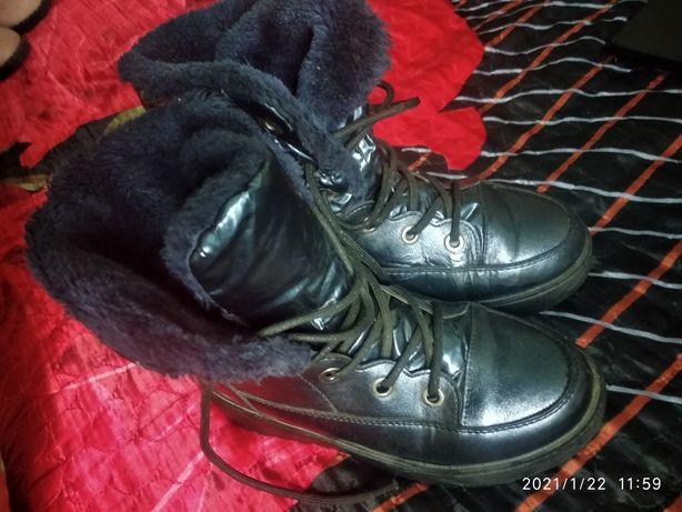 Ботинки на шнуровке 22-23см,