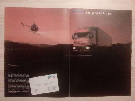 Plakat Poster DAF 95 ATi 33cm x 47,5cm Samochody Ciężarowe Reklama PL
