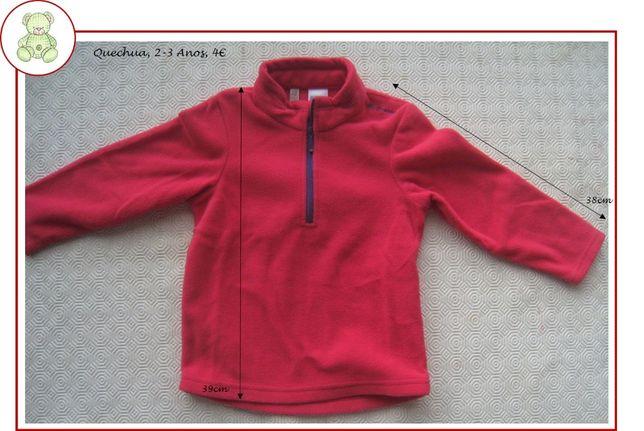 2-3Anos Menina Outono/Inverno - blusas e casacos
