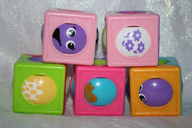 Fisher-Price Развивающие чудо кубики с роликами Roller Blocks