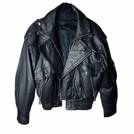 Байкерская косуха, кожанка, кожаная куртка