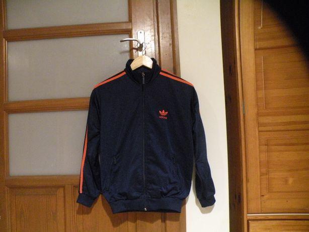 Adidas bluza granatowa z pomarańczowym logo 164 cm