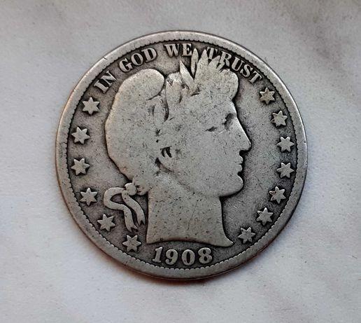 226) USA srebro - 1/4 Dollar - 1908 r. O