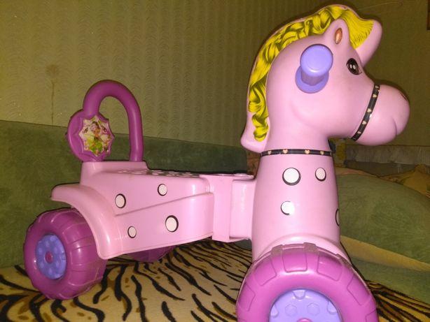 Машинка каталка лошадка