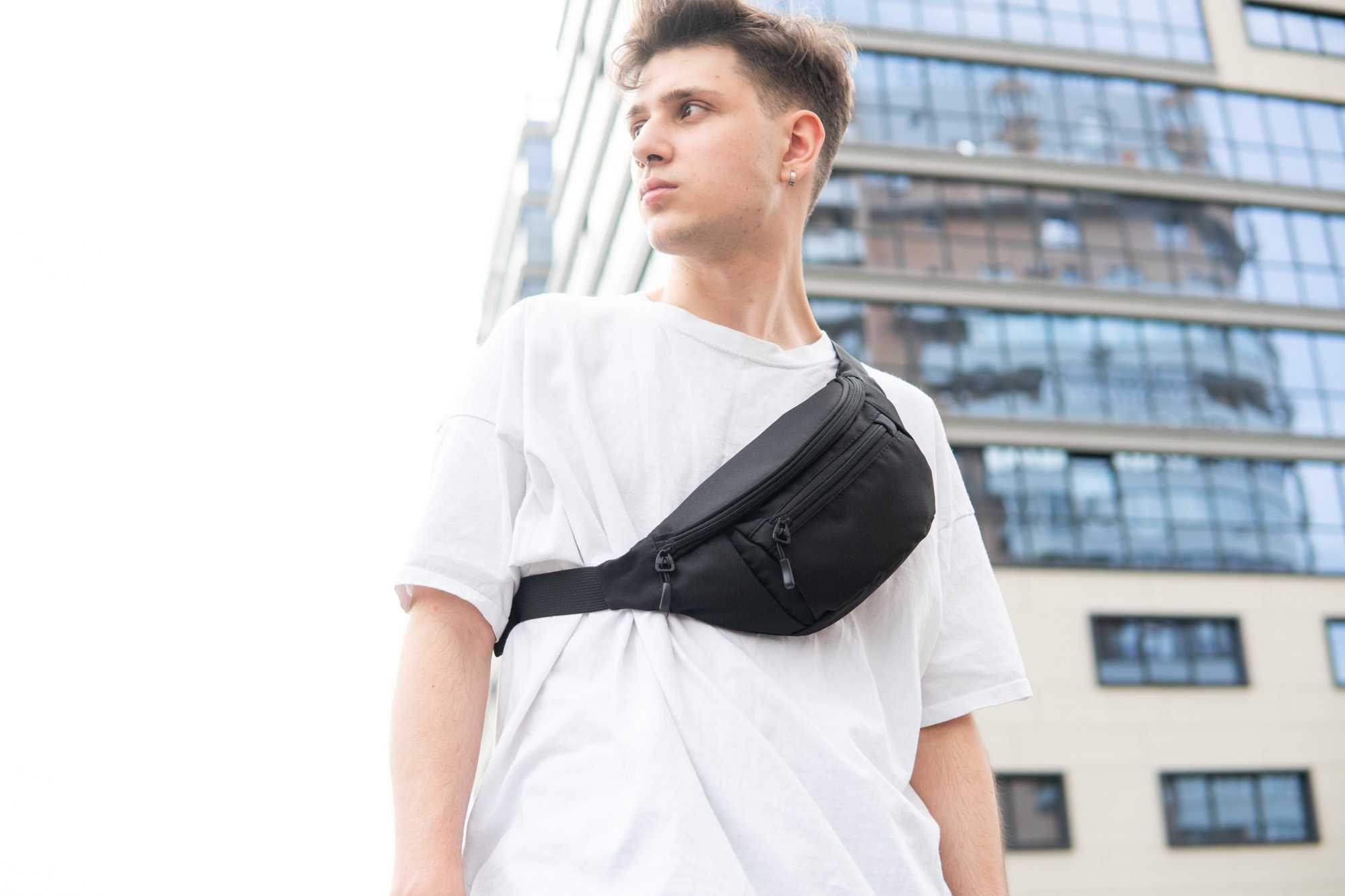 Большая сумка на пояс BIG PIT на грудь через плечо бананка барыжка