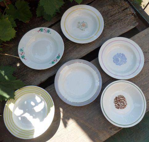 Новые глубокие тарелки. Для первых блюд, суповые, обеденные. СССР