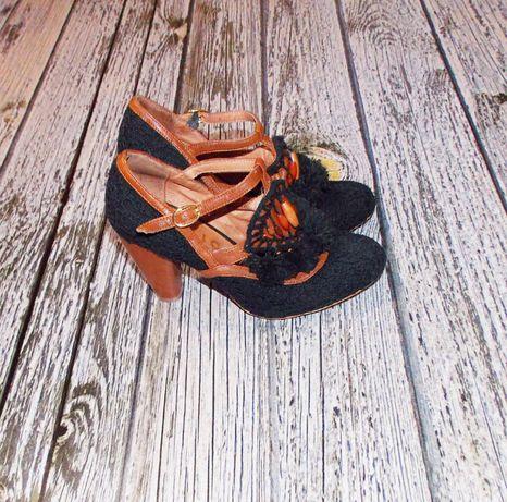 Гламурные фирменные туфли для девушки женщины , размер 36 22,5 см
