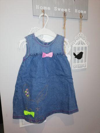 Sukienki jeansowe roz 86