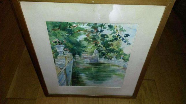 Quadro aquarela de Narciso de Morais original