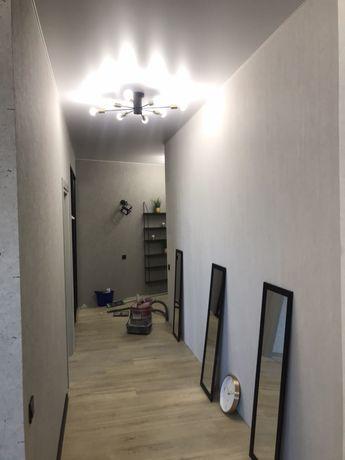 Ремонт кШПАКЛЕВКА стен +ГРУНТ+ ОБОИ 125 Покраска стен электрика