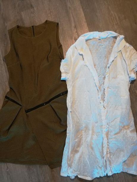 Sukienka koszula tunika zestaw