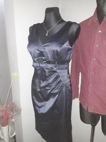 Sukienka elegancka granatowa