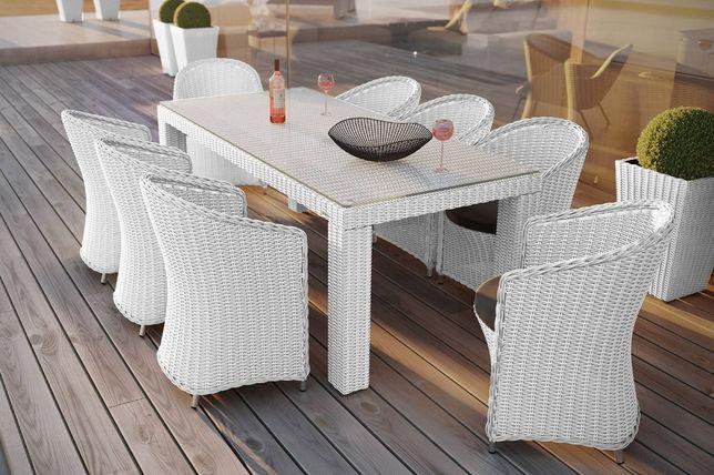 PROMOCJA -30% Meble ogrodowe stół RAPALLO 220x90x74+krzesła DV 8szt