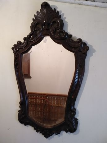 Espelho moldura em madeira vintage