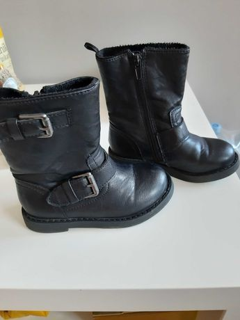 Kozaczki buty H&M 26 stan bdb czarne skorzane