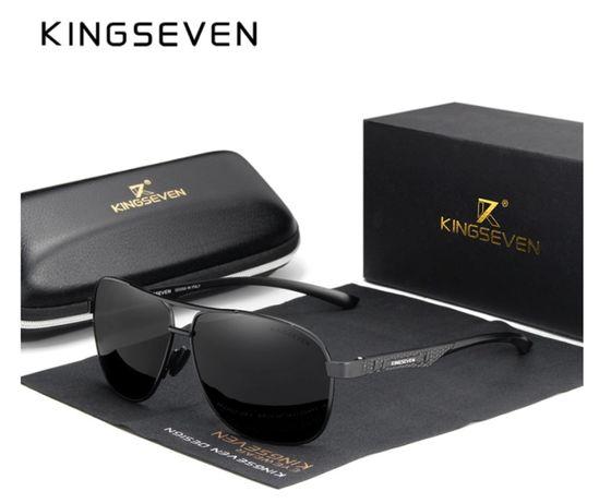 Piękne okulary przeciwsłoneczne Kingseven - cały zestaw. NA PREZENT