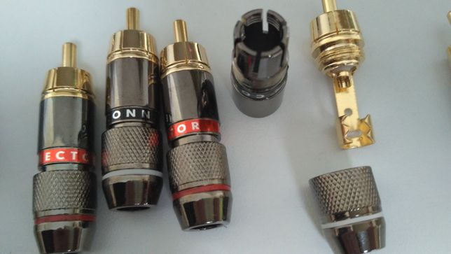 Продам RCA коннектор с самозажимной цангой