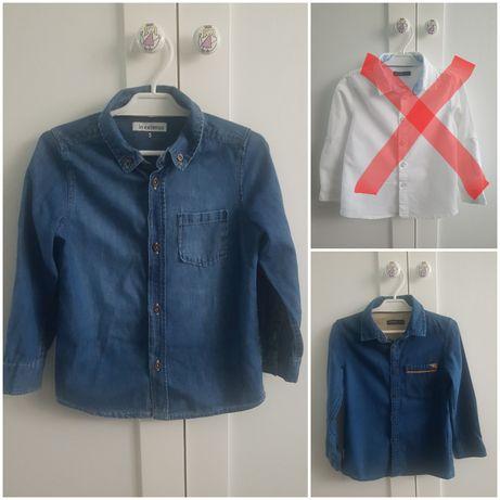 2 szt. Koszula reserved święta uroczystość jeansowa