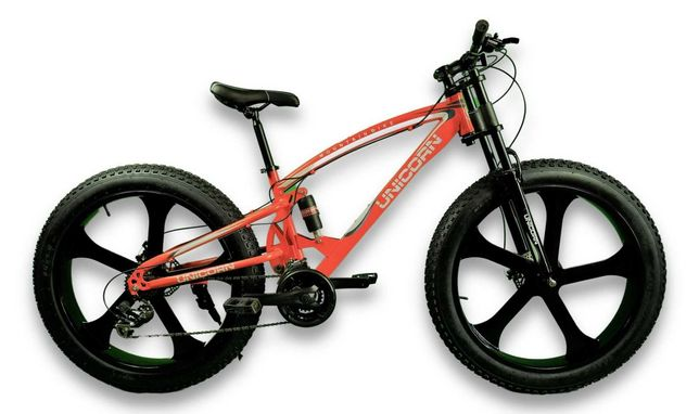Двухподвесный велосипед Фэтбайк Unicorn 26 дюймов 17 рама
