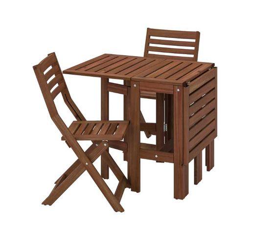 Meble Ikea ÄPPLARÖ Stół+2 składane krzesła