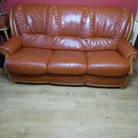 Kanapa 3 osobowa z funkcją spania +2 fotele.