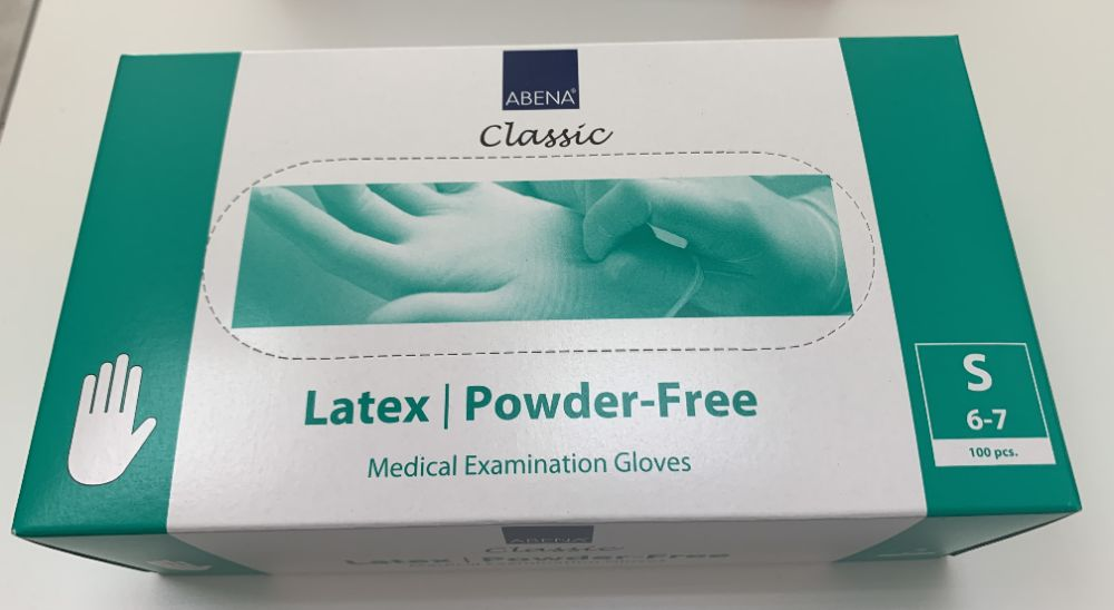 rękawiczki lateksowe bezpudrowe S (100) Łódź - image 1