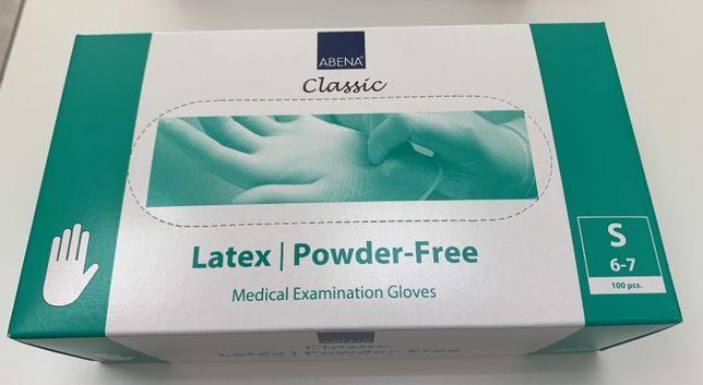rękawiczki lateksowe bezpudrowe S (100)