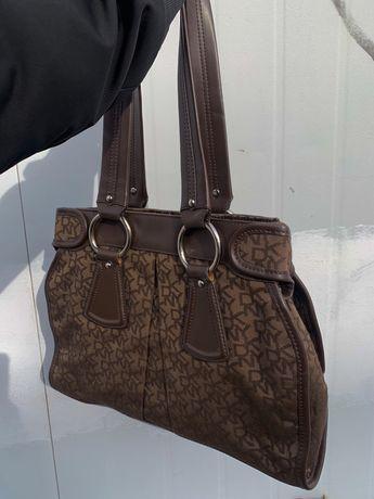Vintage torebka torba DKNY monokram y2k
