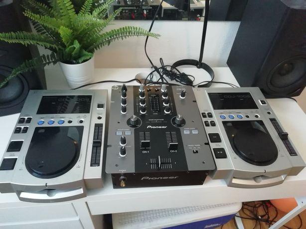 Mixer Pionner DJM 250, 2x Case
