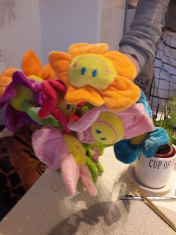 Sztuczne kwiatki pluszowe do dekoracji