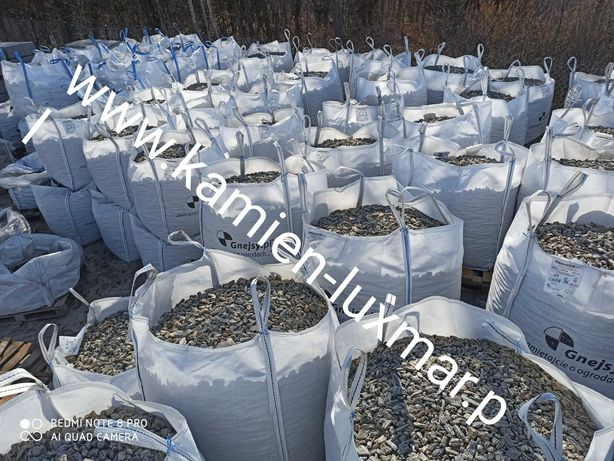Kora kamienna PROMOCJA PŁUKANA 32/60 mm/w big bagu / Kamień ogrodowy