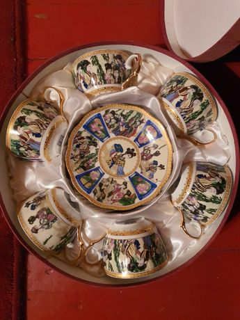 Chińska porcelana zestaw kawowy 6 osób
