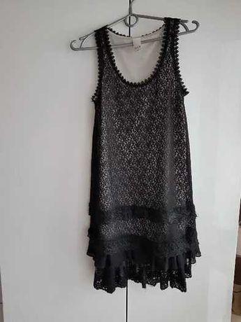 Czarna sukienka z koronki VILA roz XS  nowa CUDOWNA:)