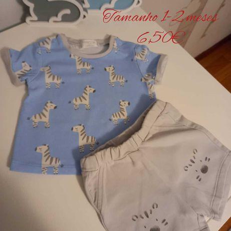 Vestuário de bébé 1-4 meses