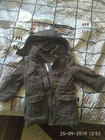 Вильветовая теплая куртка