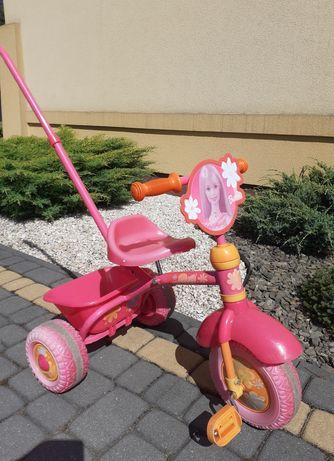 Rowerek dziecięcy trójkołowy Barbie różowy