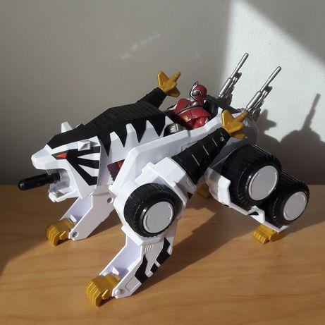 Power Rangers Super Samurai White Tiger Tank c/ Samurai Ranger