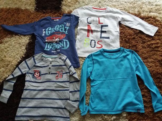 bluzki dla chłopca 110. stan bardzo dobry