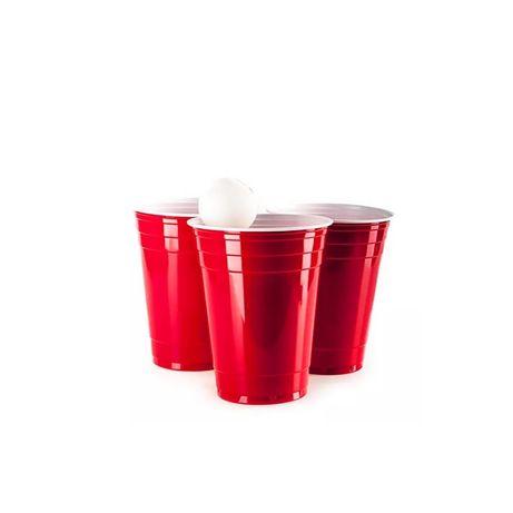 Стаканы пластиковые красные