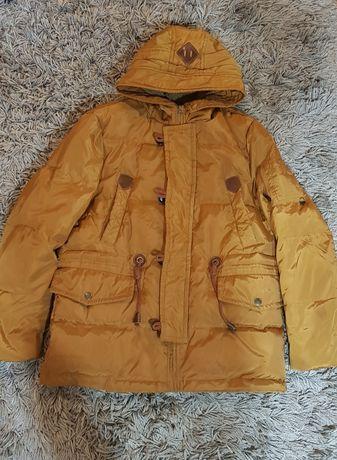 Kurtka męska ciepła zimowa modna kolor musztardowy XL
