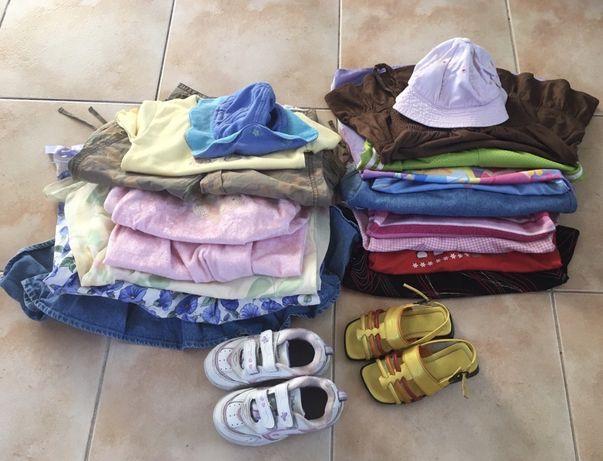 Zestaw mega paka ubrań dziewczęcych + buciki 116/122