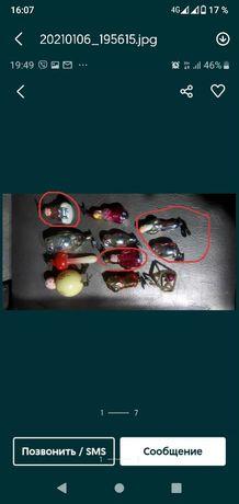 Ёлочные игрушки на прищепках
