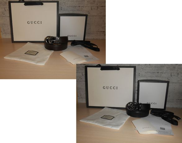 Ремень пояс мужской женский Gucci кожа, Италия, Оригинал 2 модели
