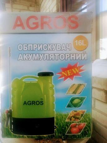 Акумуляторний обприскувач Agros 16 л, Фермер 2 в1 - опрыскиватель
