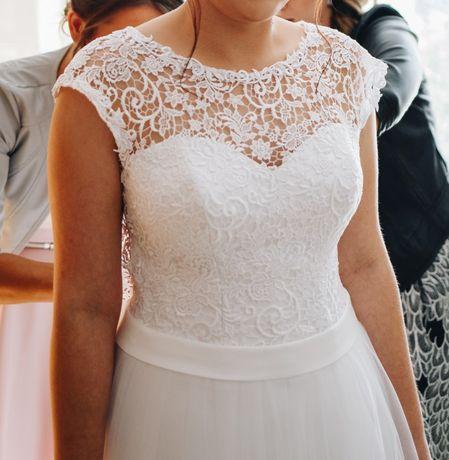 Biała suknia ślubna 40/42 170 cm